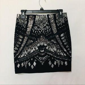 Express bodycon sequin skirt